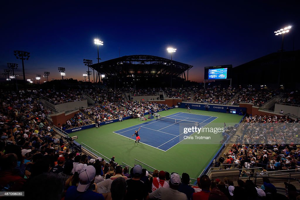<a gi-track='captionPersonalityLinkClicked' href=/galleries/search?phrase=Dominic+Thiem&family=editorial&specificpeople=7026383 ng-click='$event.stopPropagation()'>Dominic Thiem</a> of Austria serves against <a gi-track='captionPersonalityLinkClicked' href=/galleries/search?phrase=Kevin+Anderson+-+Jugador+de+tenis&family=editorial&specificpeople=5405822 ng-click='$event.stopPropagation()'>Kevin Anderson</a> of South Africa during their Men's Singles Third Round match on Day Six of the 2015 U.S. Open at the USTA Billie Jean King National Tennis Center on September 5, 2015 in the Flushing neighborhood of the Queens borough of New York City.