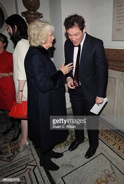 Dominic West and Camilla Duchess of Cornwall attend the Maggie's Christmas Carol concert at St Paul's Cathedral on December 16 2014 in London England
