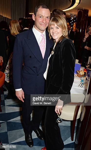 Dominic West and Catherine Fitzgerald attend a charity dinner hosted by Nicola Formby and AA Gill with Dana Hoegh in support of Borne a charity aimed...