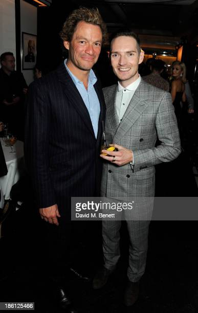 Dominic West and Dan Gillespie Sells attend a party hosted by Katherine Jenkins and Raymond Blanc to celebrate the launch of Martell Very Special...