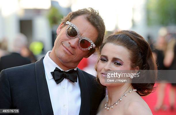 Dominic West and Helena Bonham Carter attend the Arqiva British Academy Television Awards at Theatre Royal on May 18 2014 in London England