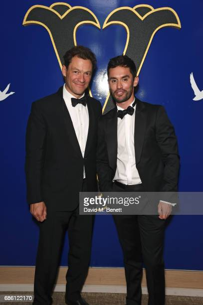 Dominic West and JeanBernard FernandezVersini attend The Square screening afterparty at the Versini GREY GOOSE popup at Five Seas Hotel on May 20...