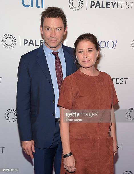 Dominic West and Maura Tierney attend PaleyFest New York 2015 'The Affair' at The Paley Center for Media on October 12 2015 in New York City