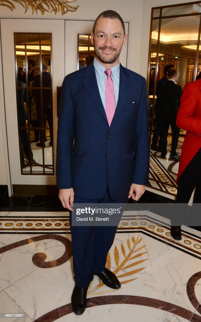 Dominic West attends a drinks reception at the South Bank Sky Arts awards at the Dorchester Hotel on January 27, 2014 in London, England.