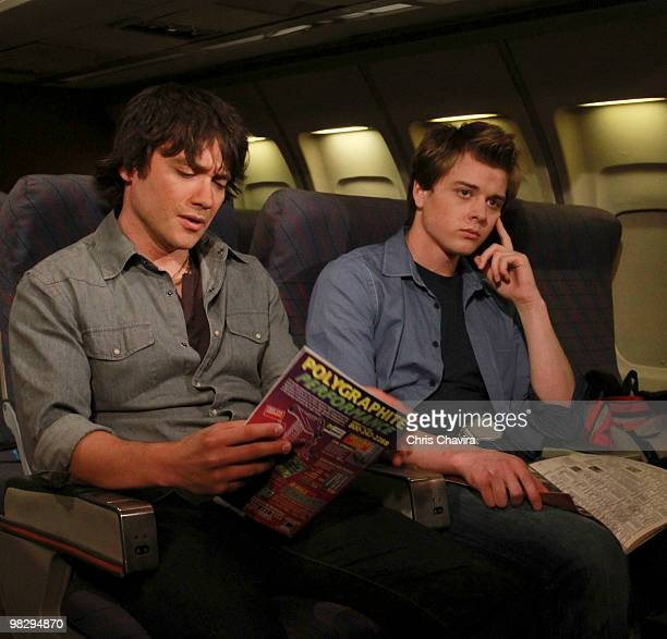 HOSPITAL Dominic Zamprogna and Chad Duell in a scene that airs the week of April 19 2010 on ABC Daytime's 'General Hospital' 'General Hospital' airs...