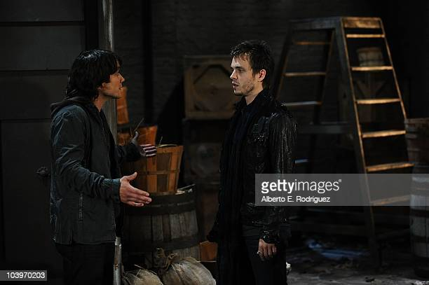 Dominic Zamprogna and Jonathan Jackson in a scene that airs the week of September 27th on ABC's GENERAL HOSPITAL