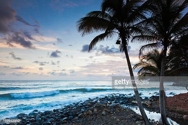 Dominica, Marigot, harbor, dawn