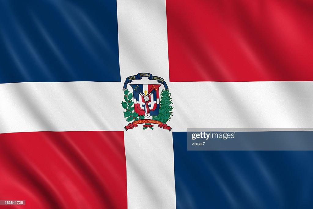 dominican republic flag : Stock Photo