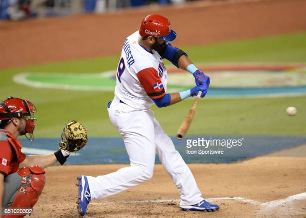 Dominican Republic outfielder Jose Bautista during the World Baseball Classic 1st Round Pool C game between Canada and Dominican Republic on March 09...