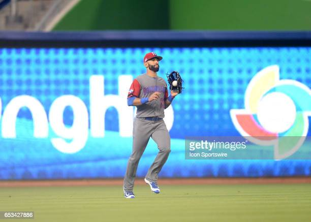 Dominican Republic outfielder Jose Bautista in action during the World Baseball Classic 1st Round Pool C game between the Dominican Republic and...