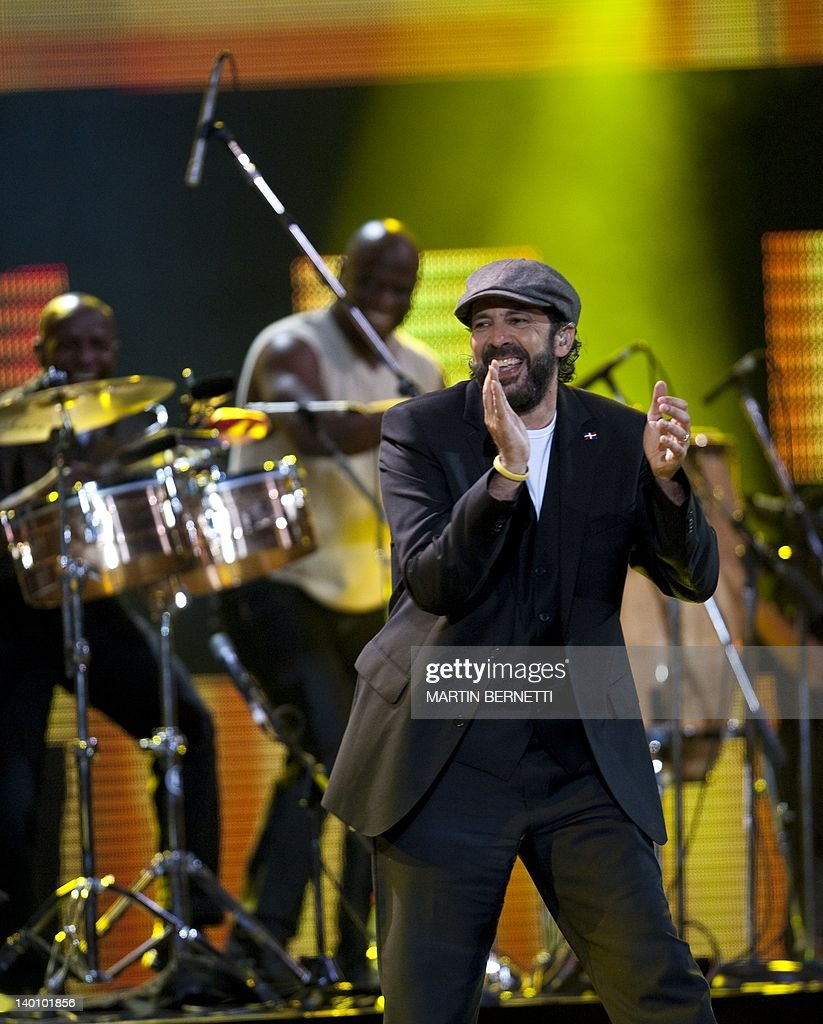 Dominican Republic's singer Juan Luis Guerra performs during the 53nd Vina del Mar International Song Festival on February 27, 2012 in Vina del Mar, Chile .
