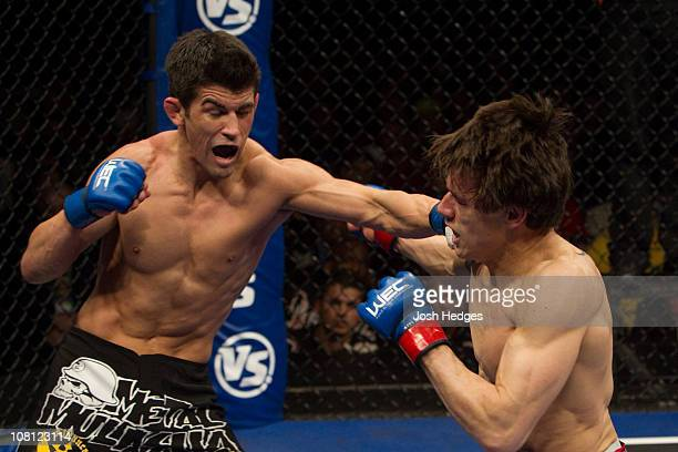 Dominick Cruz punches Brian Bowles at Nationwide Arena on March 6 2010 in Columbus Ohio