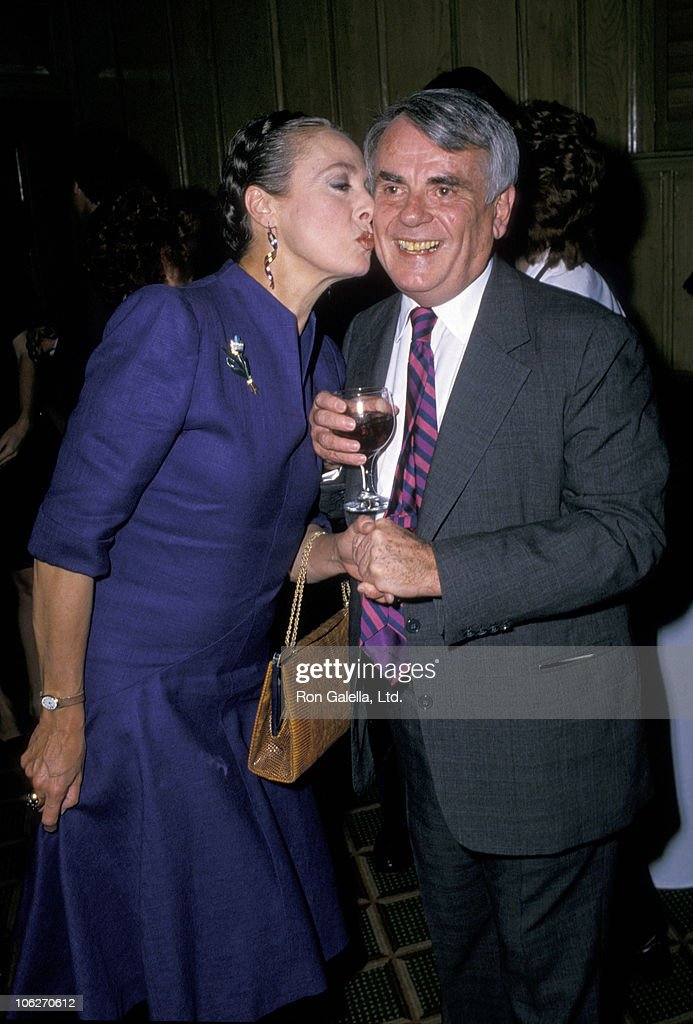 Dominick Dunn and Rita Gam during Dominck Dunne Celebratory Book Party at Chasen's Restaurant - May 26, 1988 at Chasen's Restaurant in Beverly Hills, California, United States.