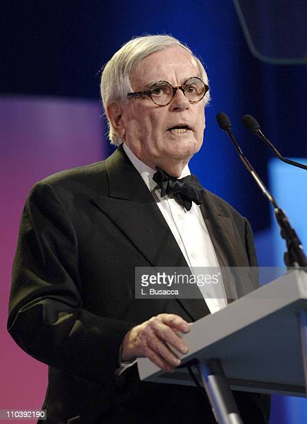 Dominick Dunne during American Women in Radio Television 30th Annual Gracie Allen Awards Show at New York Marriot Marquis Hotel in New York City New...