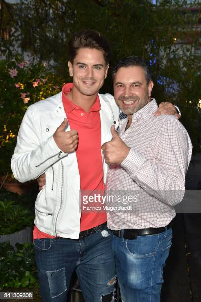 Dominik Bruntner and Pedro da Silva attend the CONNECTIONS PR Summer Cocktail 2017 at Enoteca L'antipasto Nuovo on August 31 2017 in Munich Germany