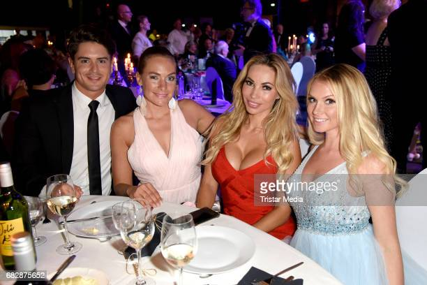 Dominik Bruntner Iris Julia Aschenbrenner Maria Hering and Mandy Lange attend the 'Goldene Sonne 2017' Award by SonnenklarTV on May 13 2017 in Kalkar...