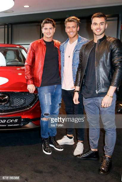 Dominik Bruntner Martina Borchert Konstantin Schaebbicke and Charly Hahne during the spring cocktail hosted by Mazda and InTouch magazine at Mazda...