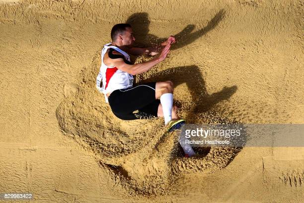 Dominik Distelberger of Austria competes in the Men's Decathlon Long Jump during day eight of the 16th IAAF World Athletics Championships London 2017...