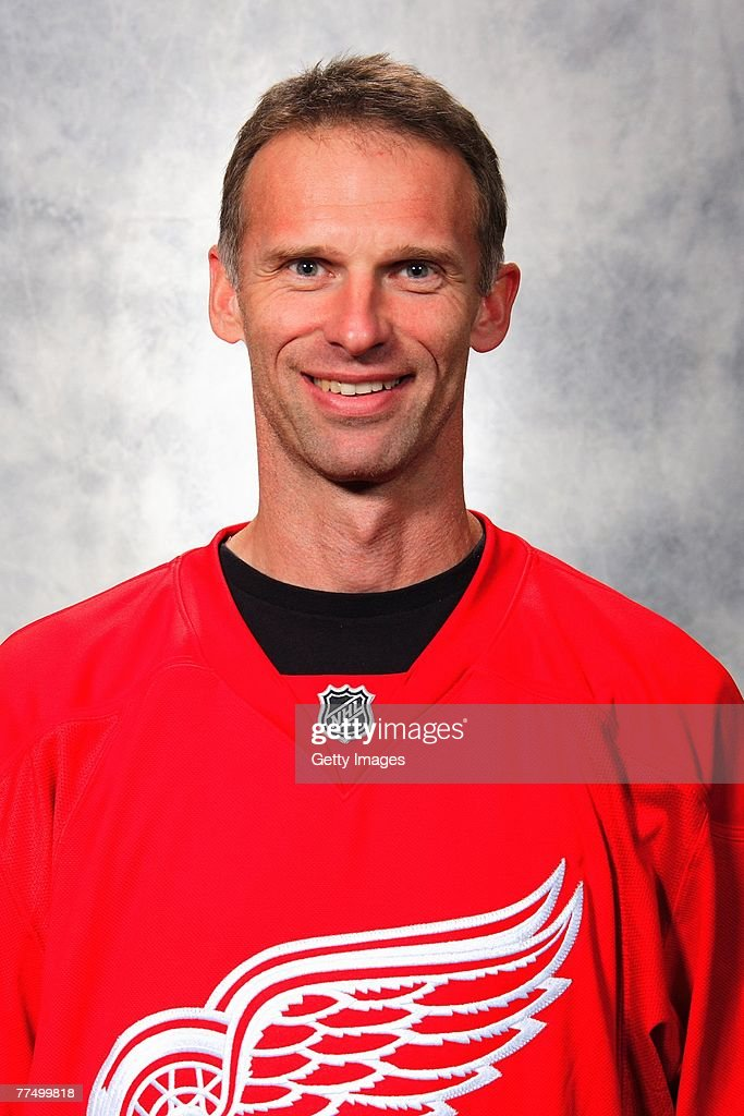 Dominik Hasek of the Detroit Red Wings poses for his 2007 NHL headshot at photo day in Detroit Michigan