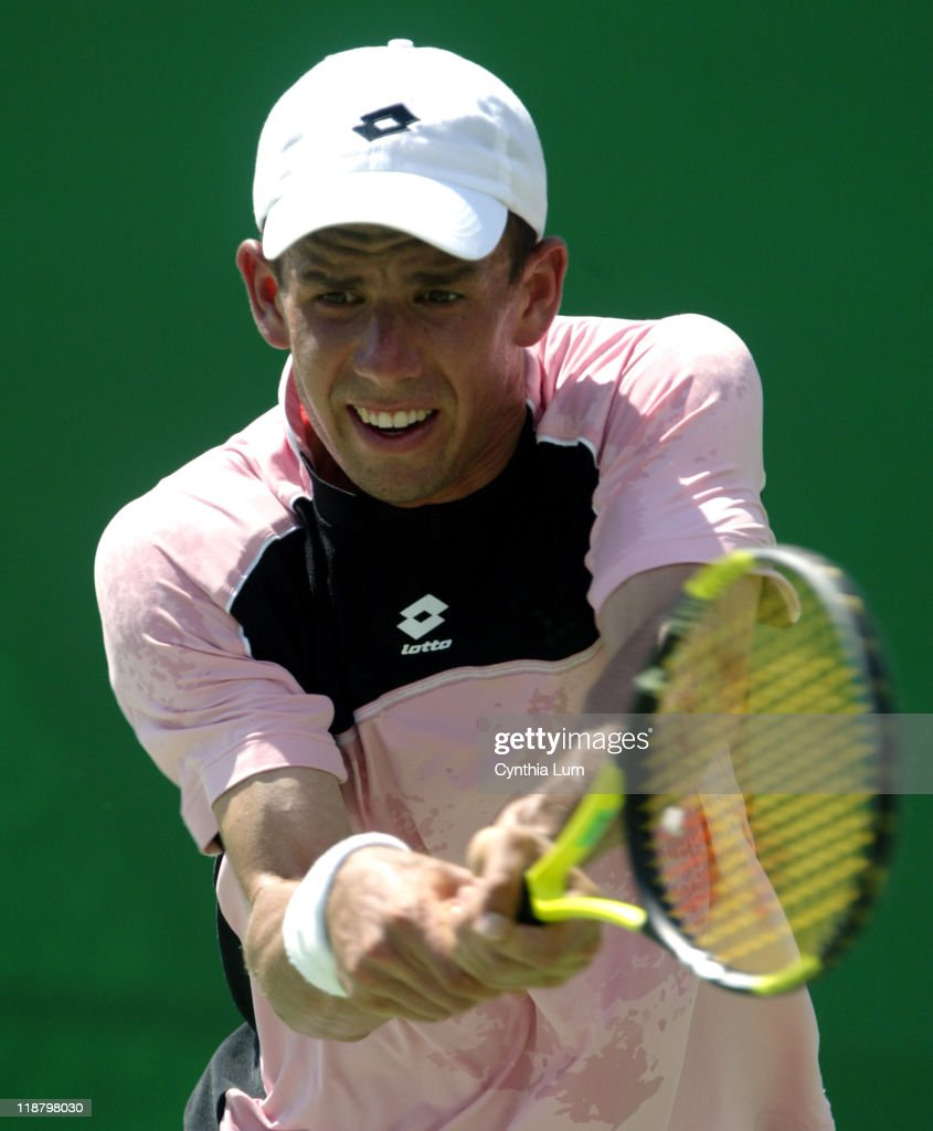 Dominik Hrbaty defeats Dick Norman 62 75 57 46 108 in the second round of the Australian Open at Melbourne Park in Melbourne Australia on January 19...