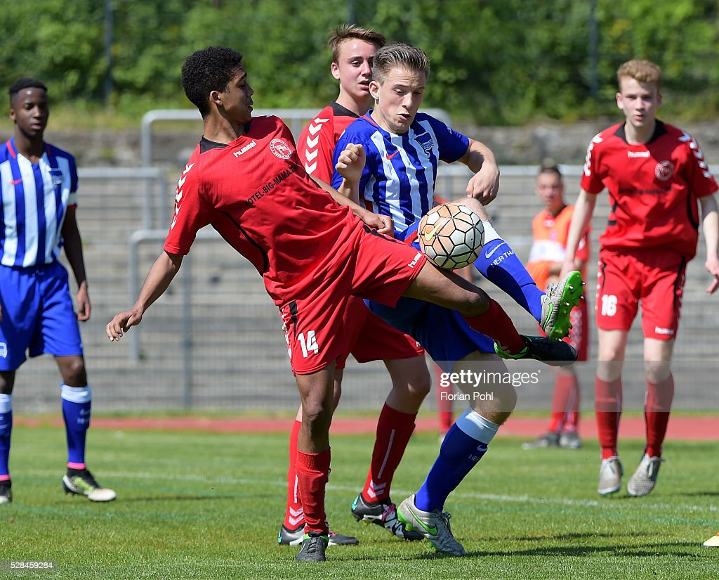 Dominik Klecha of FC Hertha 03 During the B-juniors cup match between FC Hertha 03 and Hertha BSC on May 5, 2016 in Berlin, Germany.