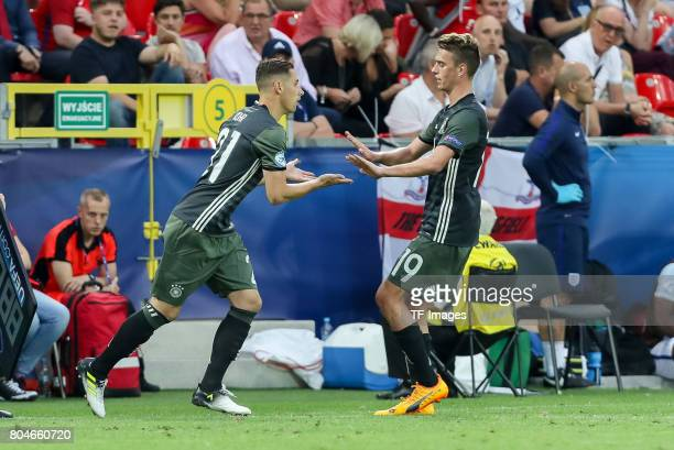 Dominik Kohr of Germany fuer Maximilian Arnold of Germany during the UEFA European Under21 Championship Semi Final match between England and Germany...
