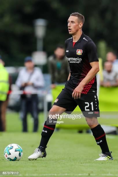 Dominik Kohr of Leverkusen controls the ball during the preseason friendly match between Bayer 04 Leverkusen and Antalyaspor on July 27 2017 in Zell...