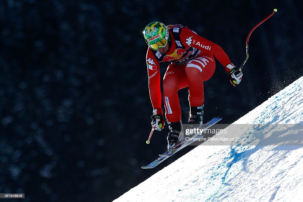<a gi-track='captionPersonalityLinkClicked' href=/galleries/search?phrase=Dominik+Paris&family=editorial&specificpeople=5663630 ng-click='$event.stopPropagation()'>Dominik Paris</a> of Italy competes during the Audi FIS Alpine Ski World Cup Men's Downhill Training on January 22, 2015 in Kitzbuehel, Austria.