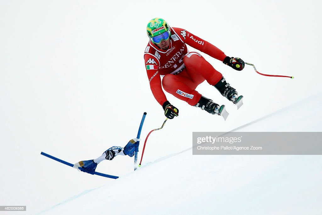 Dominik Paris of Italy competes during the Audi FIS Alpine Ski World Cup Men's Super-G on January 23, 2015 in Kitzbuehel, Austria.