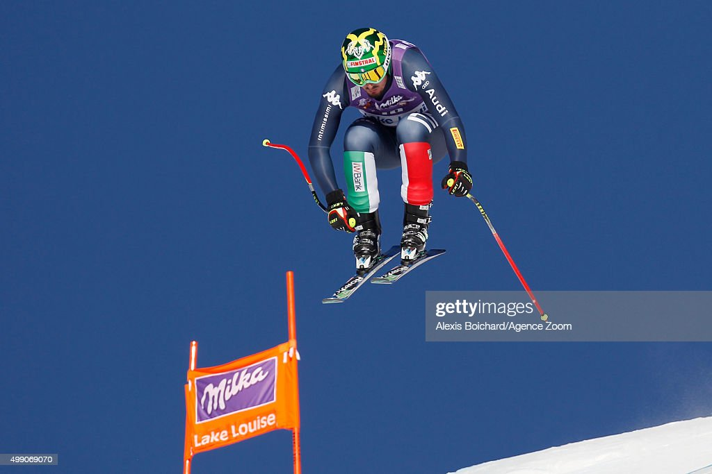 <a gi-track='captionPersonalityLinkClicked' href=/galleries/search?phrase=Dominik+Paris&family=editorial&specificpeople=5663630 ng-click='$event.stopPropagation()'>Dominik Paris</a> of Italy competes during the Audi FIS Alpine Ski World Cup Men's Downhill on November 28, 2015 in Lake Louise, Canada.