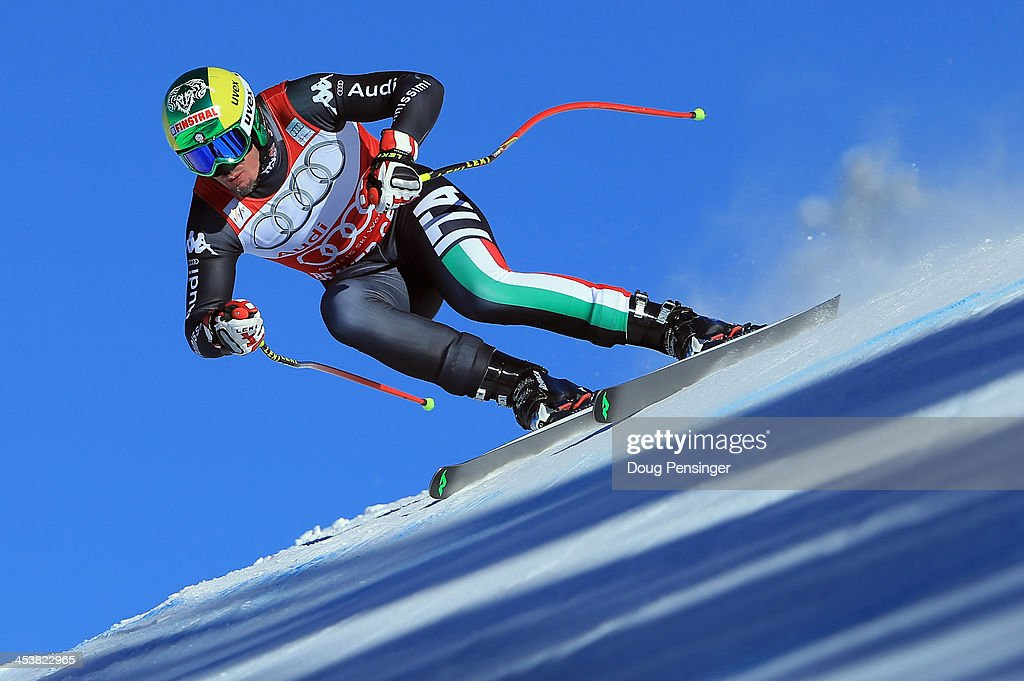 Dominik Paris of Italy in action during downhill training for the Birds of Prey Audi FIS Ski World Cup on December 5, 2013 in Beaver Creek, Colorado.
