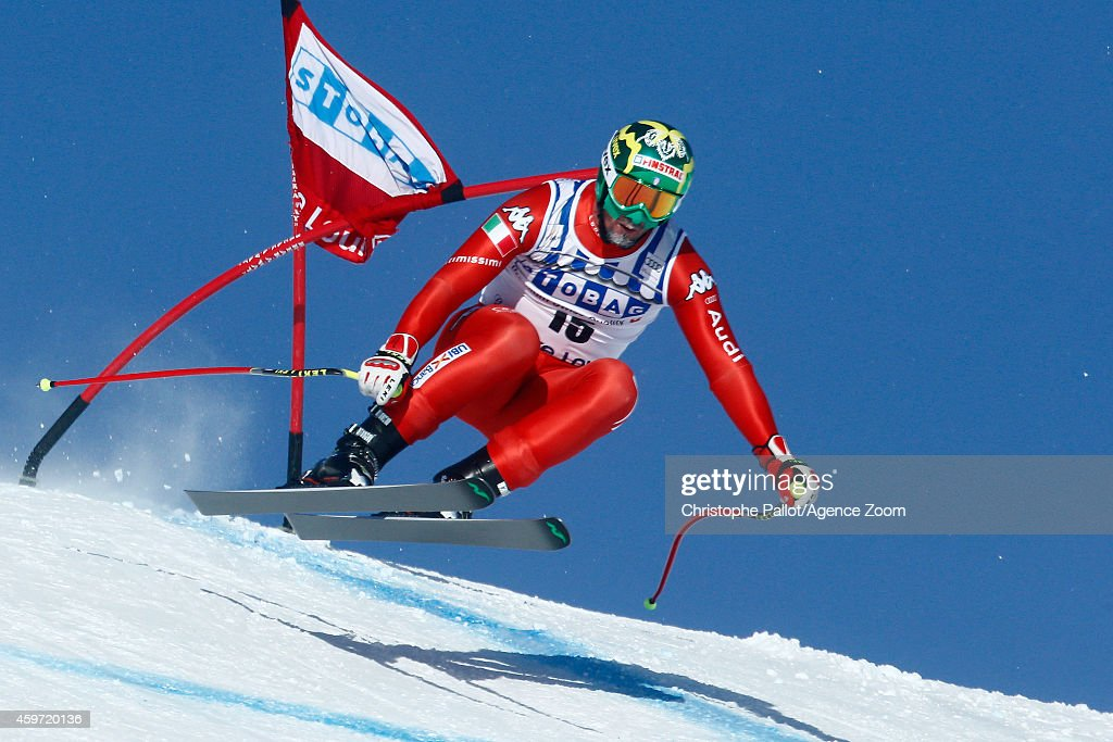 <a gi-track='captionPersonalityLinkClicked' href=/galleries/search?phrase=Dominik+Paris&family=editorial&specificpeople=5663630 ng-click='$event.stopPropagation()'>Dominik Paris</a> of Italy in action during the Audi FIS Alpine Ski World Cup Men's Downhill on November 29, 2014 in Lake Louise, Canada.