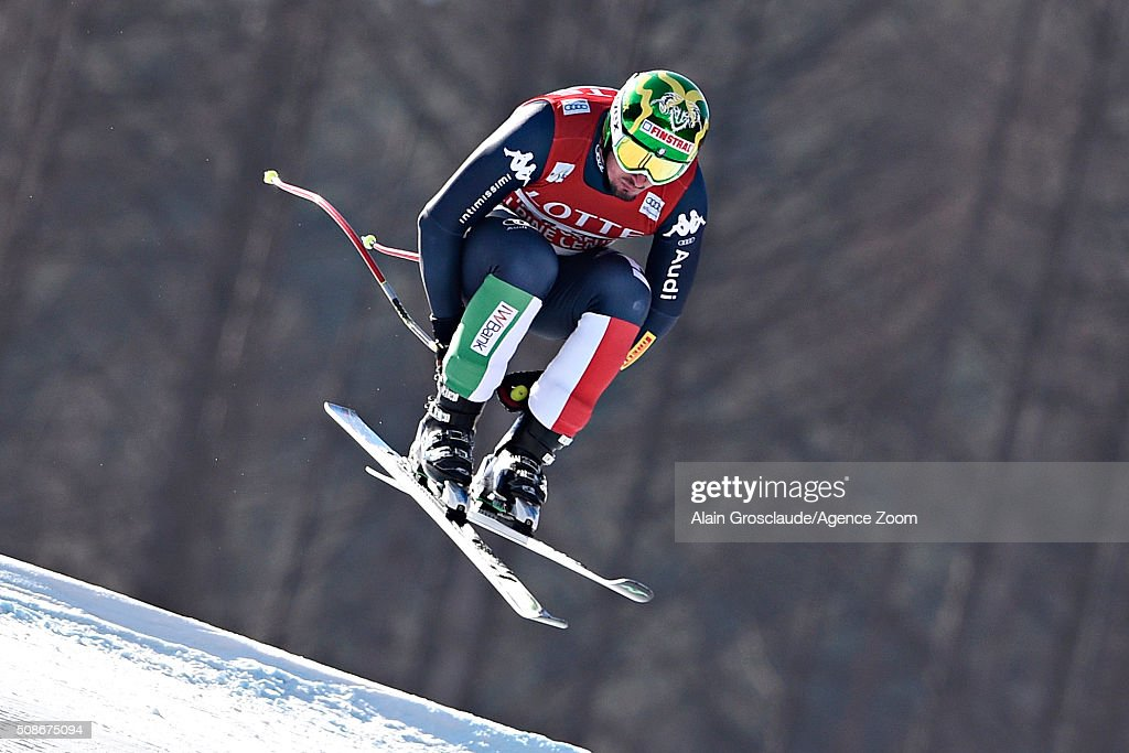 <a gi-track='captionPersonalityLinkClicked' href=/galleries/search?phrase=Dominik+Paris&family=editorial&specificpeople=5663630 ng-click='$event.stopPropagation()'>Dominik Paris</a> of Italy takes 2nd place during the Audi FIS Alpine Ski World Cup Men's Downhill on February 06, 2016 in Jeongseon, South Korea.