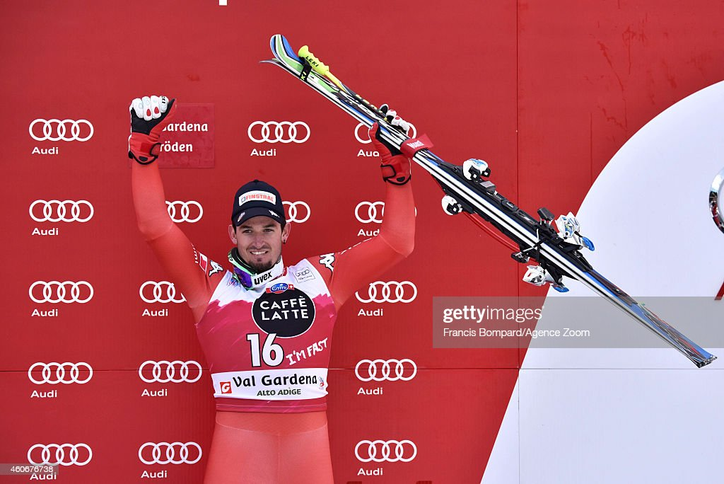 <a gi-track='captionPersonalityLinkClicked' href=/galleries/search?phrase=Dominik+Paris&family=editorial&specificpeople=5663630 ng-click='$event.stopPropagation()'>Dominik Paris</a> of Italy takes 3rd place during the Audi FIS Alpine Ski World Cup Men's Downhill on December 19, 2014 in Val Gardena, Italy.