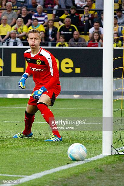 Dominik Reimann of Dortmund during the German U19 Championship Semi Final First Leg match between Borussia Dortmund and 1860 Muenchen at Signal Iduna...