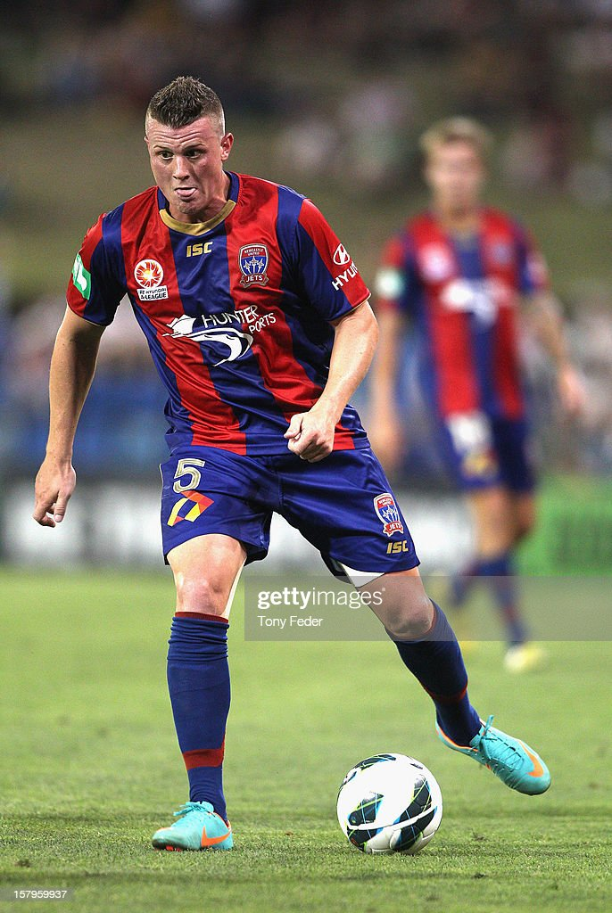 Dominik Ritter of the Jets in action during the round ten A-League match between the Newcastle Jets and the Central Coast Mariners at Hunter Stadium on December 8, 2012 in Newcastle, Australia.