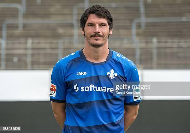 Dominik StrohEngel poses during the Darmstadt 98 Team Presentation on August 11 2016 in Darmstadt Germany