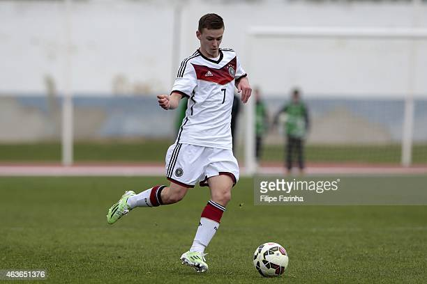 Dominik Wanner of Germany during the U16 UEFA development tournament between Germany and Netherlands on February 16 2015 in Vila Real de Santo...