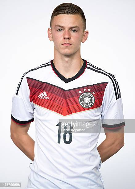 Dominik Wanner poses during the U16 Germany Team Presentation on May 17 2015 in Stuttgart Germany