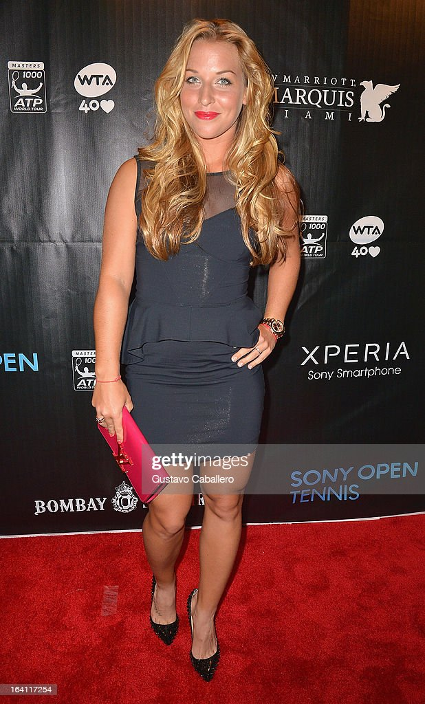 Dominika Cibulkova arrives at Sony Open Player Party 2013 at JW Marriott Marquis on March 19, 2013 in Miami, Florida.