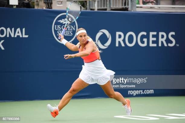 Dominika Cibulkova during the first round 2017 Rogers Cup tennis tournament on August 7 at Aviva Centre in Toronto ON Canada Cibulkova defeated...