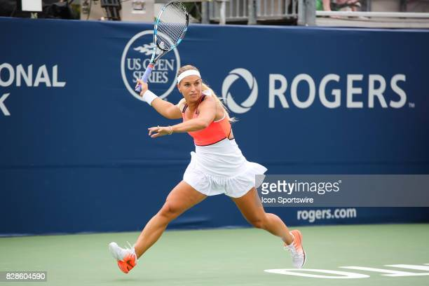 Dominika Cibulkova during the first round of the 2017 Rogers Cup tennis tournament on August 7 at Aviva Centre in Toronto ON Canada