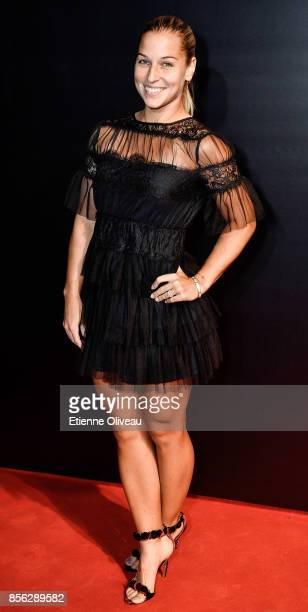 Dominika Cibulkova of Slovakia attends the 2017 China Open Player Party at Beijing Olympic Tower on October 1 2017 in Beijing China
