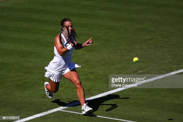 Dominika Cibulkova of Slovakia in action during her first round match against Heather Watson of Great Britain during day two of the Aegon...