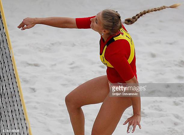 Dominika Nestarcova of Slovakia in action during the Round 1 match between Dominika Nestarcova and Natalia Dubovcova of Slovakia against Monika...