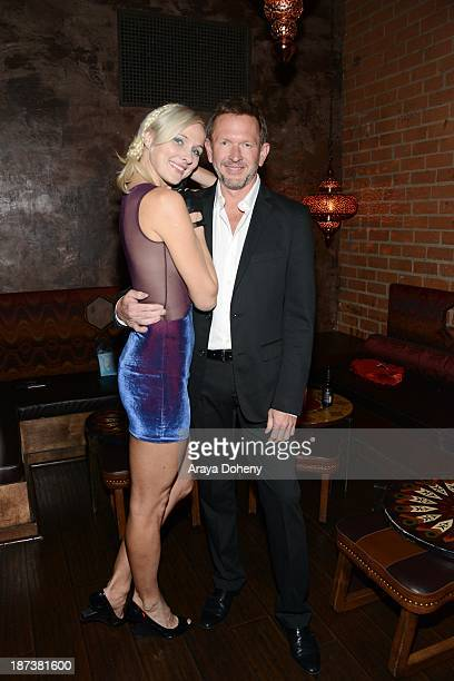 Dominika Wolski and Greg Mielcarz attend the Emmett/Furla/Oasis Films hosts celebration for the upcoming production of 'Tupac' at Zanzibar on...