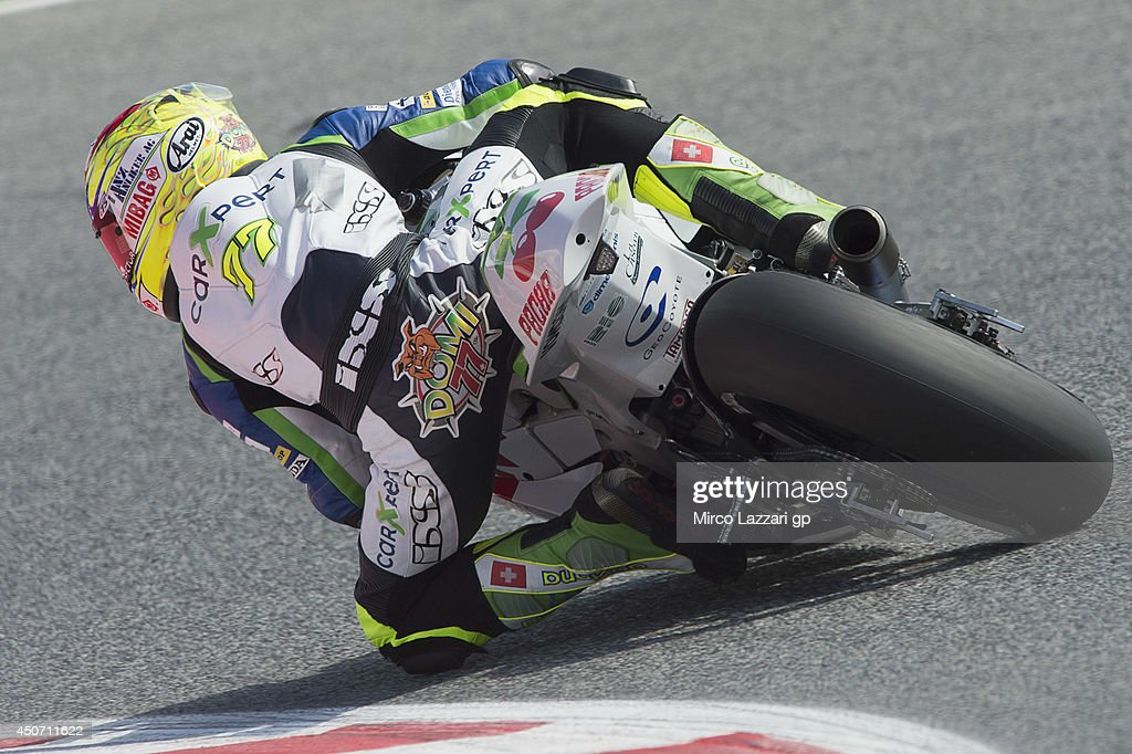 Dominique Aegerter of Switzerland and Avintia Racing rounds the bend during the MotoGp Tests In Montmelo at Circuit de Catalunya on June 16, 2014 in Montmelo, Spain.