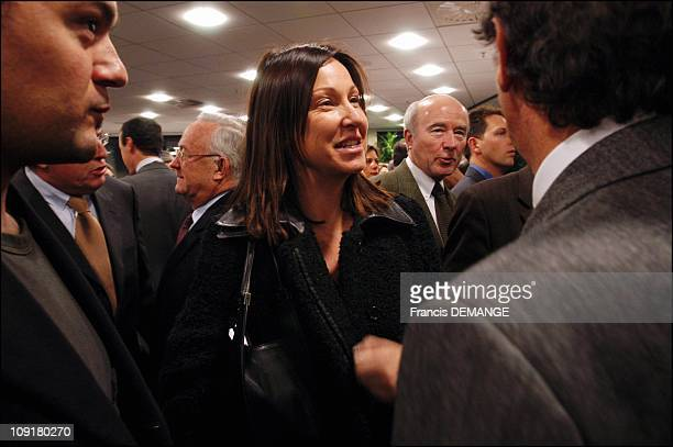 Dominique Baudis Csa Chairman Presents His Wishes To The Press On January 20 2004 In Paris France Evelyne Thomas And Olivier Mazerolle
