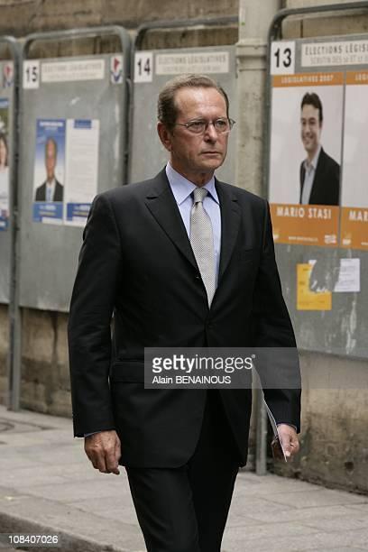 Dominique Baudis in Paris France on June 04 2007