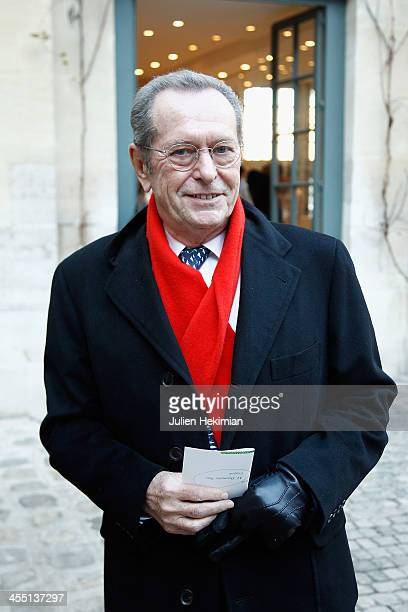 Dominique Baudis is pictured before the Ousmane Sow ceremony at Institut de France on December 11 2013 in Paris France